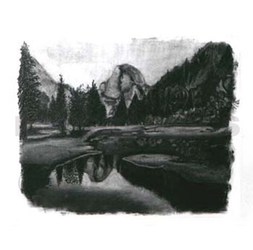 Half Dome Charcoal Reverse Erase