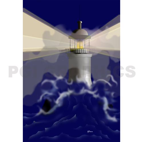 Computer Drawing Lighthouse